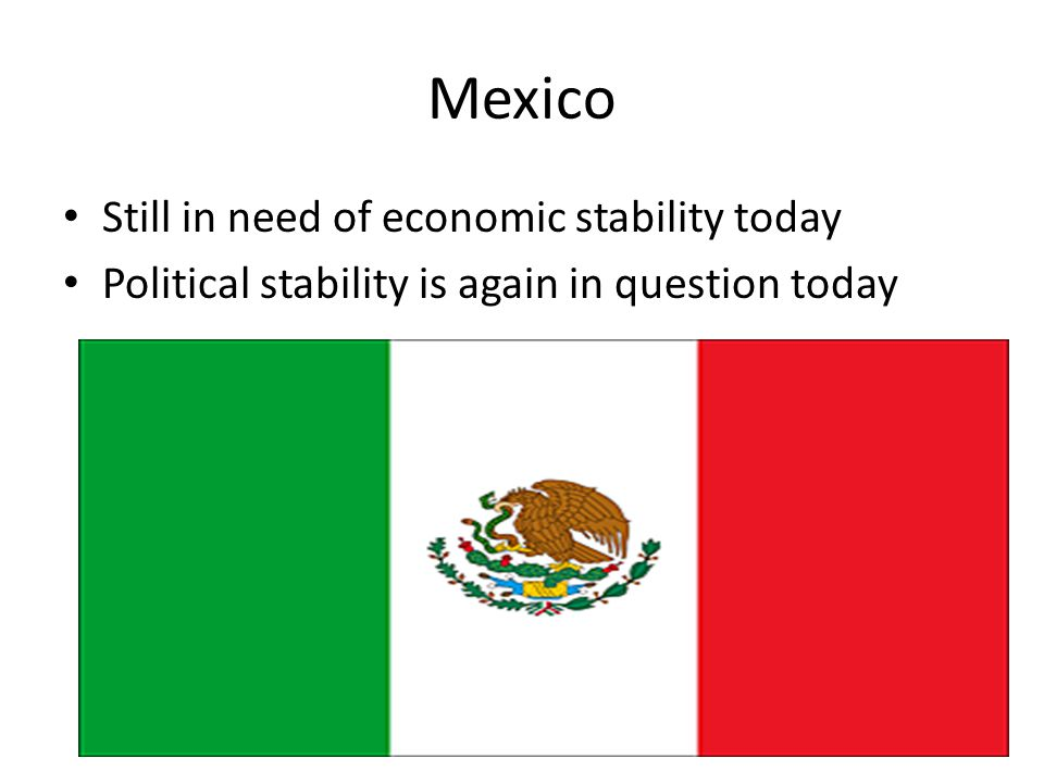 Mexico Still in need of economic stability today