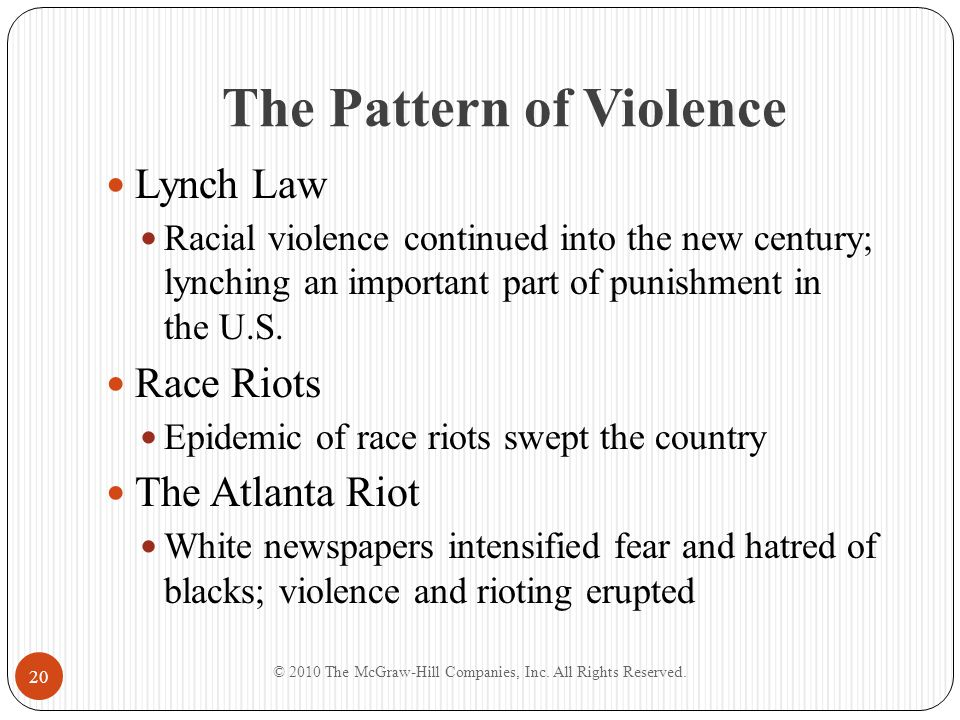 The Pattern of Violence