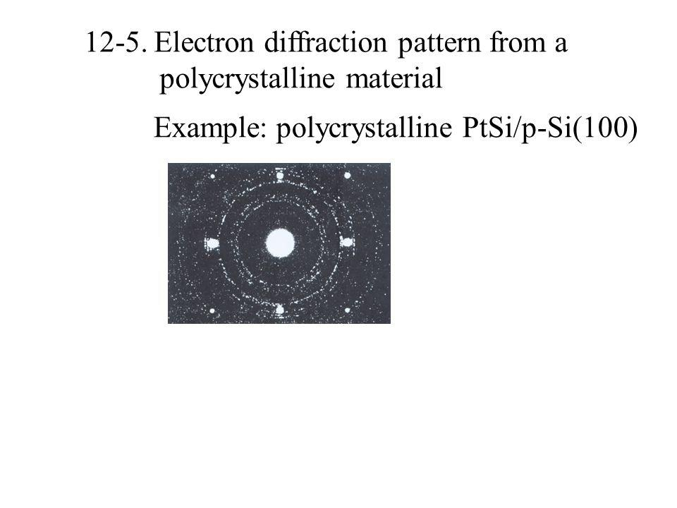 12-5. Electron diffraction pattern from a