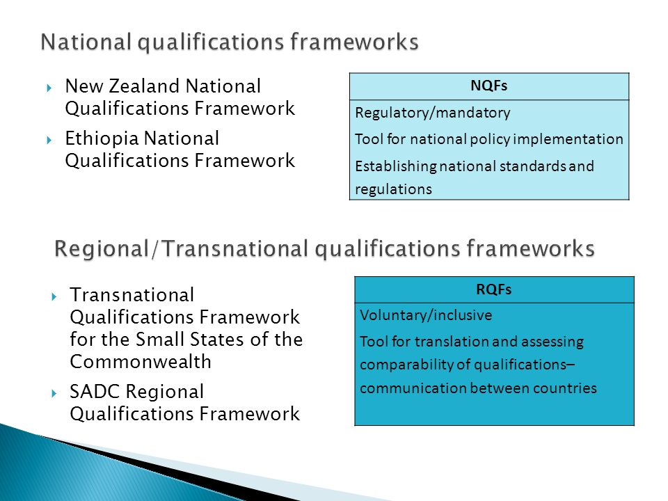 National qualifications frameworks