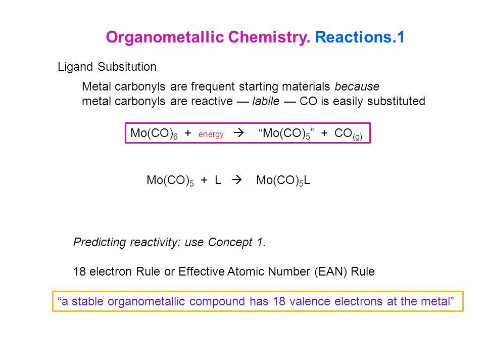 Organometallic Chemistry. Reactions.1
