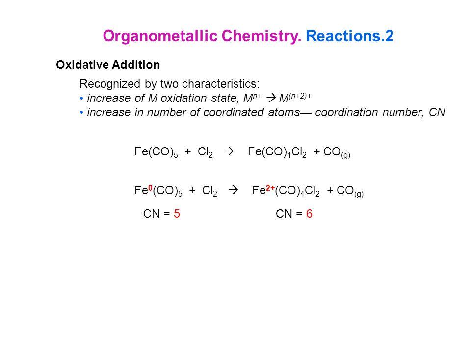 Organometallic Chemistry. Reactions.2