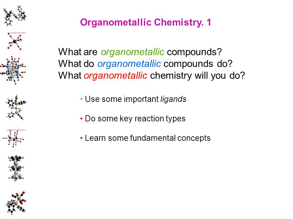 Organometallic Chemistry. 1