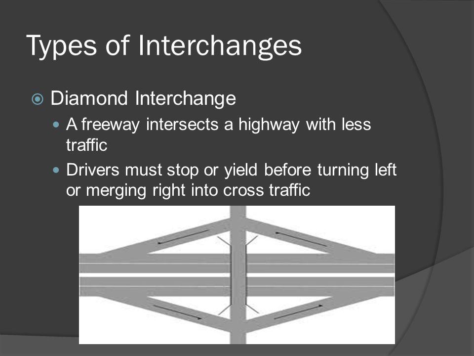 Types of Interchanges Diamond Interchange