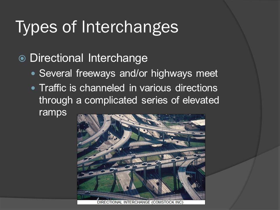 Types of Interchanges Directional Interchange