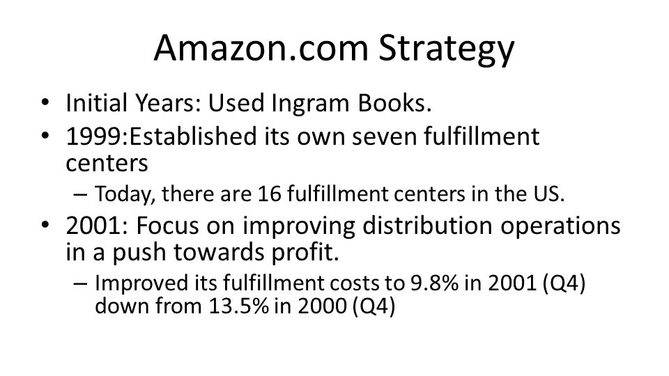 Amazon.com Strategy Initial Years: Used Ingram Books.