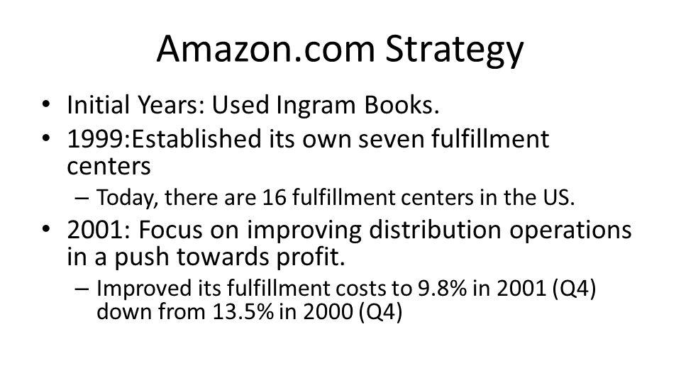 Amazon.com Strategy Initial Years: Used Ingram Books.
