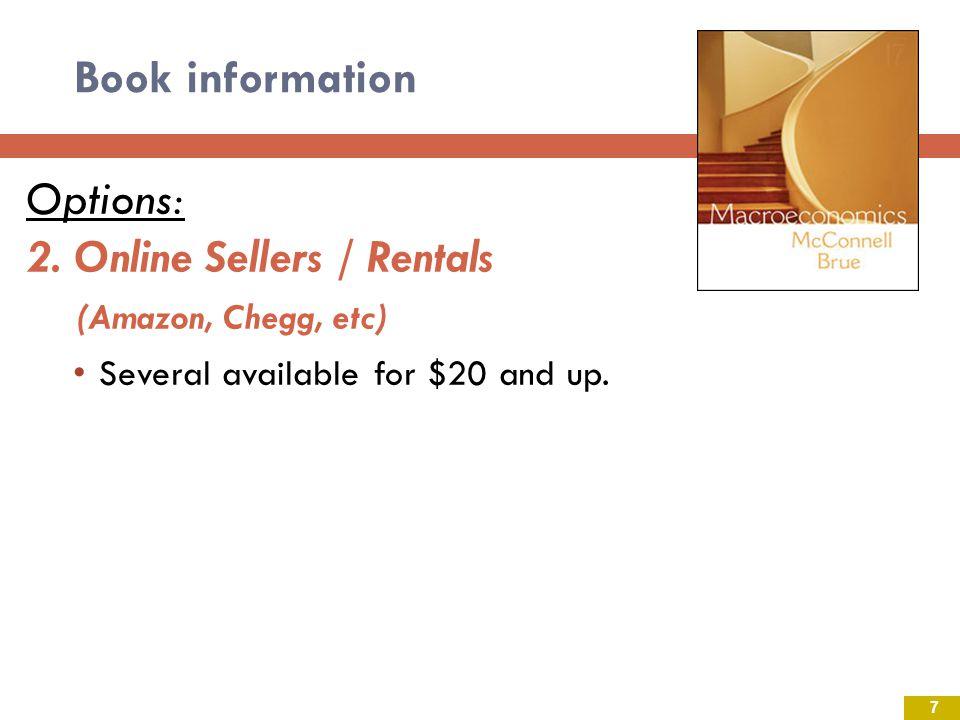 2. Online Sellers / Rentals (Amazon, Chegg, etc)