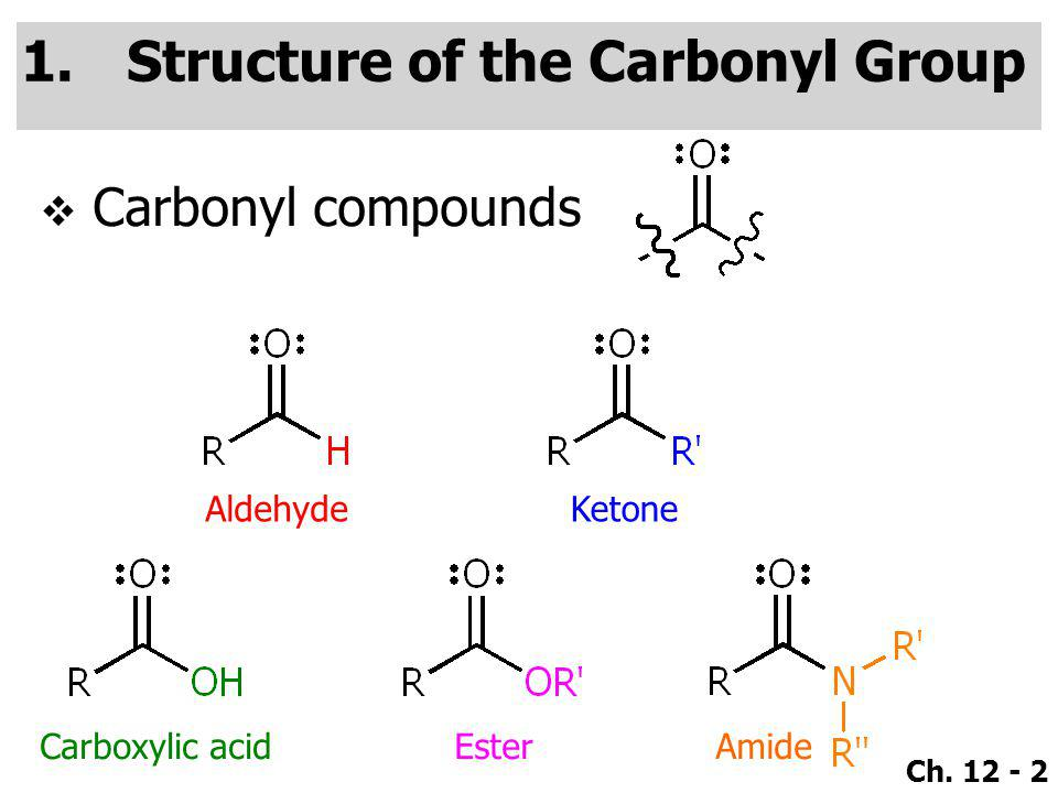 Structure of the Carbonyl Group