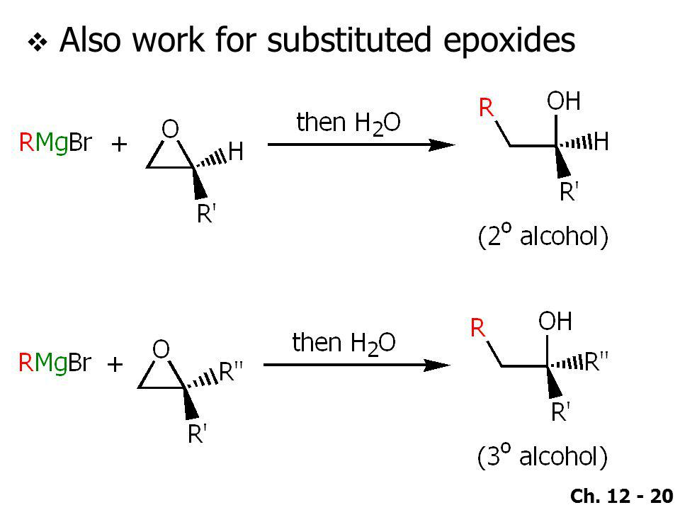 Also work for substituted epoxides