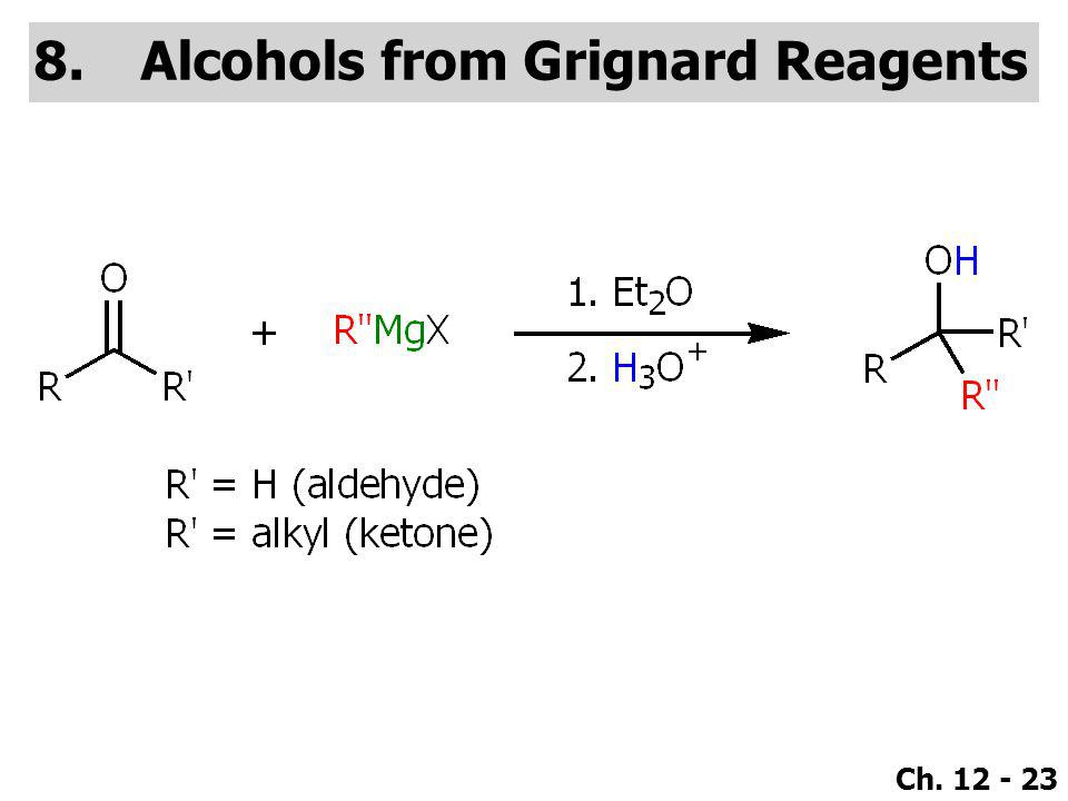 Alcohols from Grignard Reagents