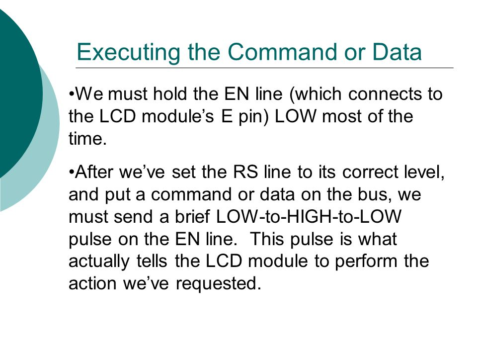 Executing the Command or Data