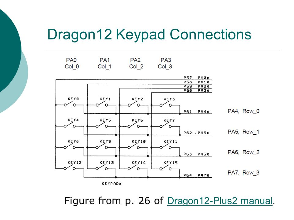 Dragon12 Keypad Connections