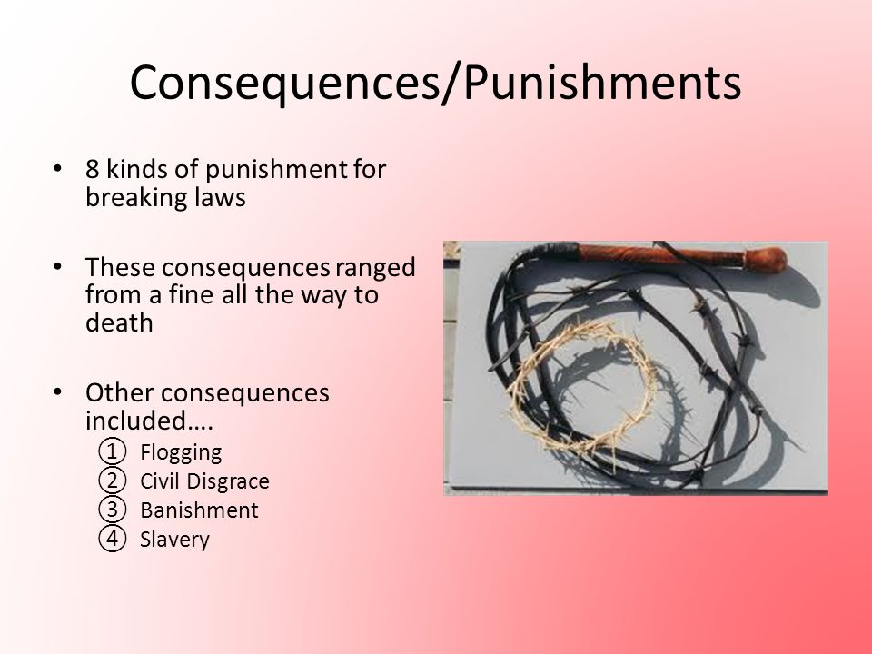 Consequences/Punishments