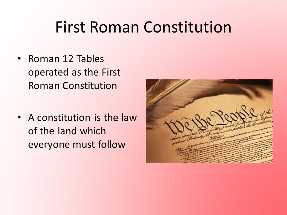 First Roman Constitution