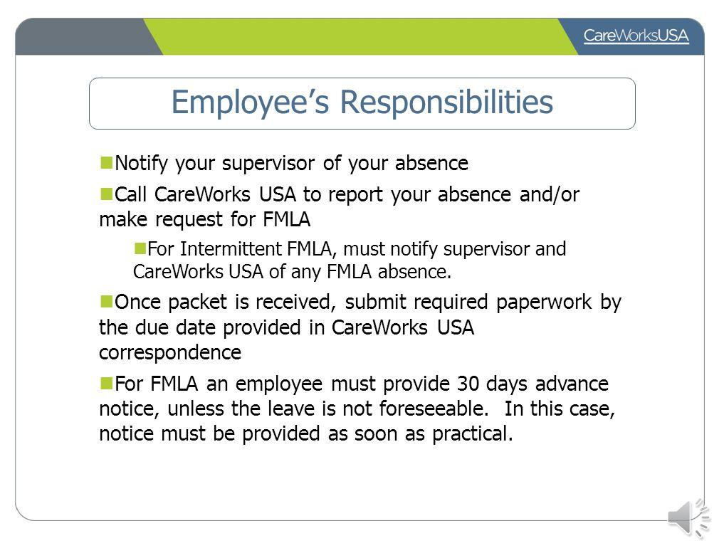 Employee's Responsibilities