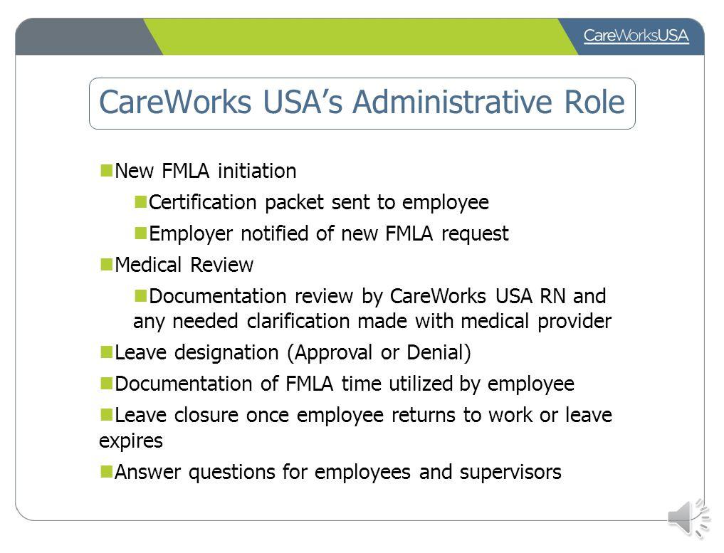 CareWorks USA's Administrative Role