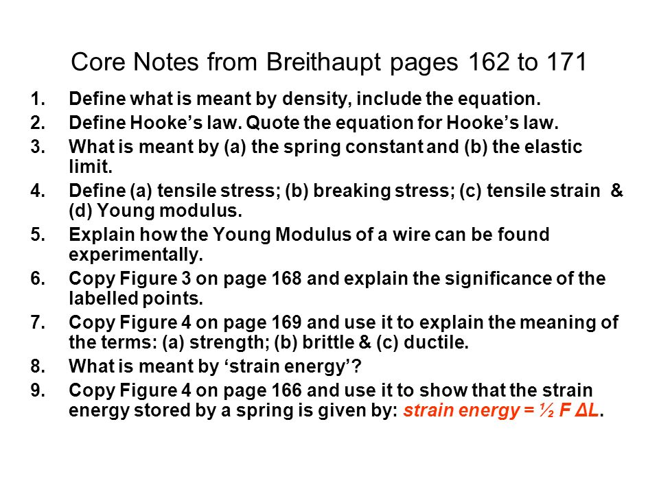 Core Notes from Breithaupt pages 162 to 171
