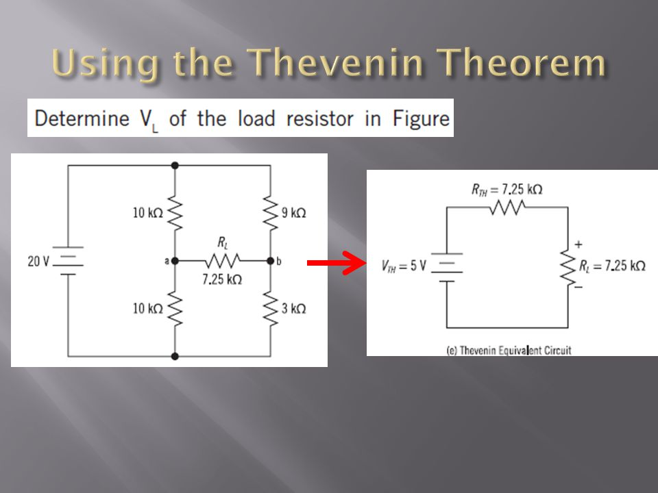 Using the Thevenin Theorem