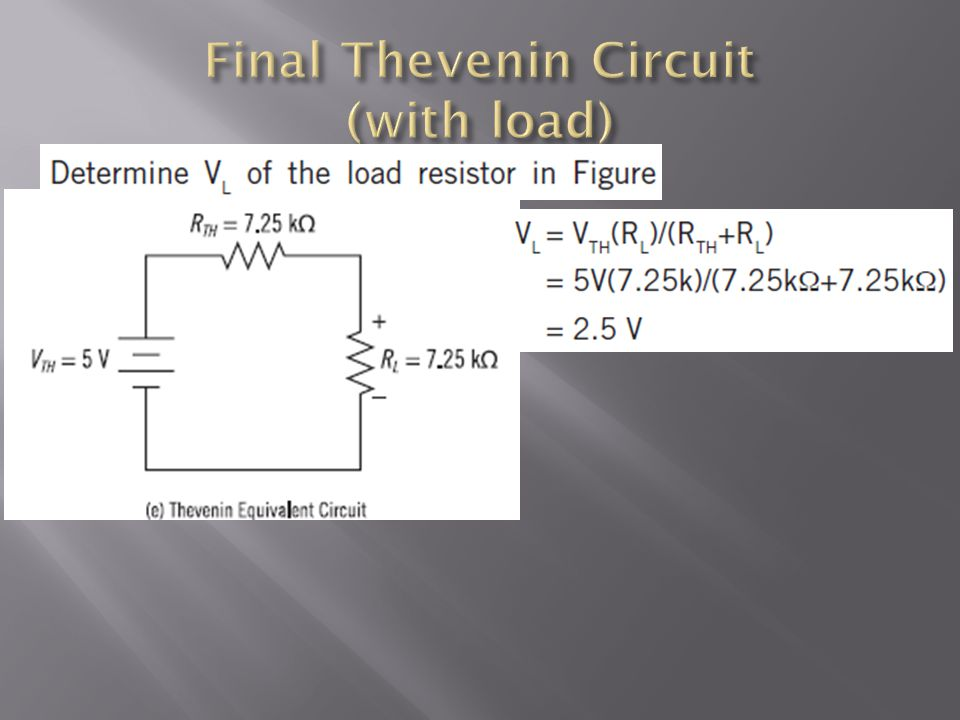 Final Thevenin Circuit (with load)