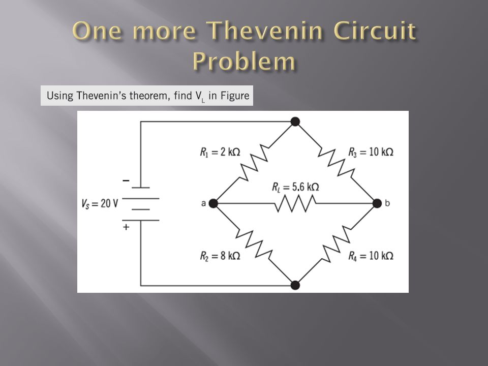 One more Thevenin Circuit Problem