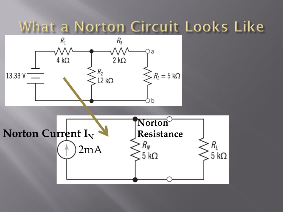 What a Norton Circuit Looks Like