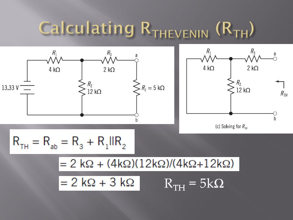 Calculating RTHEVENIN (RTH)