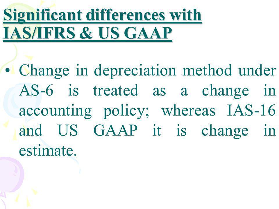 Significant differences with IAS/IFRS & US GAAP