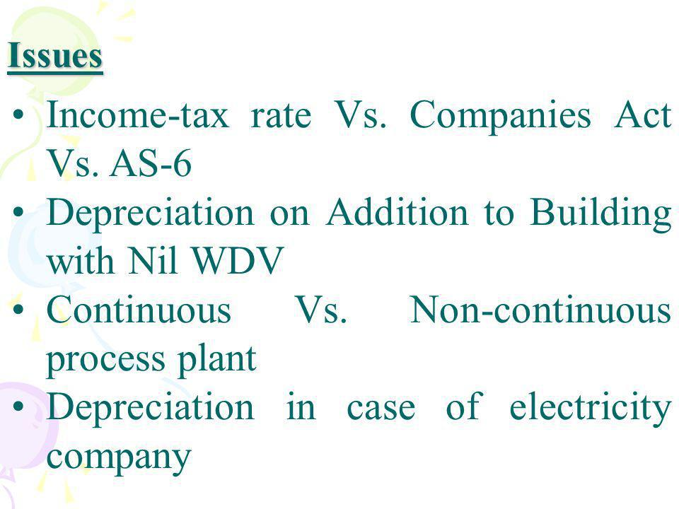 Income-tax rate Vs. Companies Act Vs. AS-6