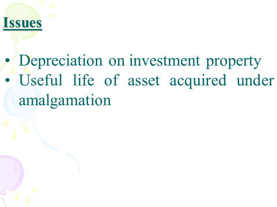 Depreciation on investment property