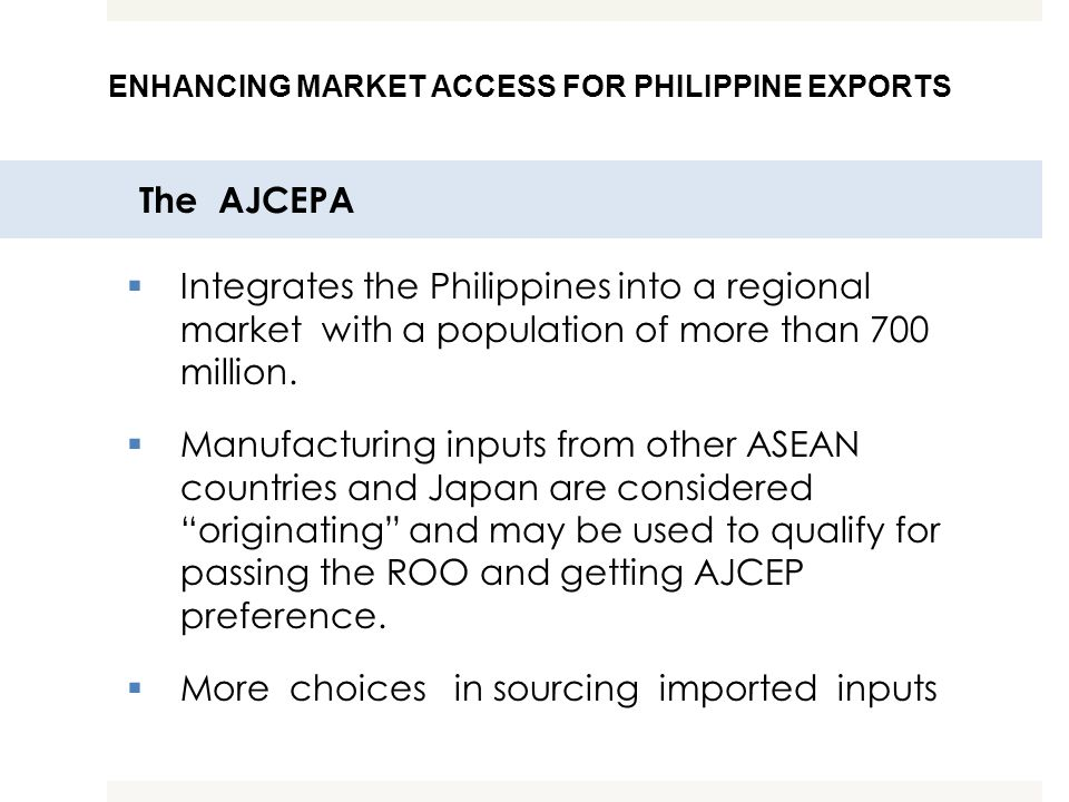 More choices in sourcing imported inputs