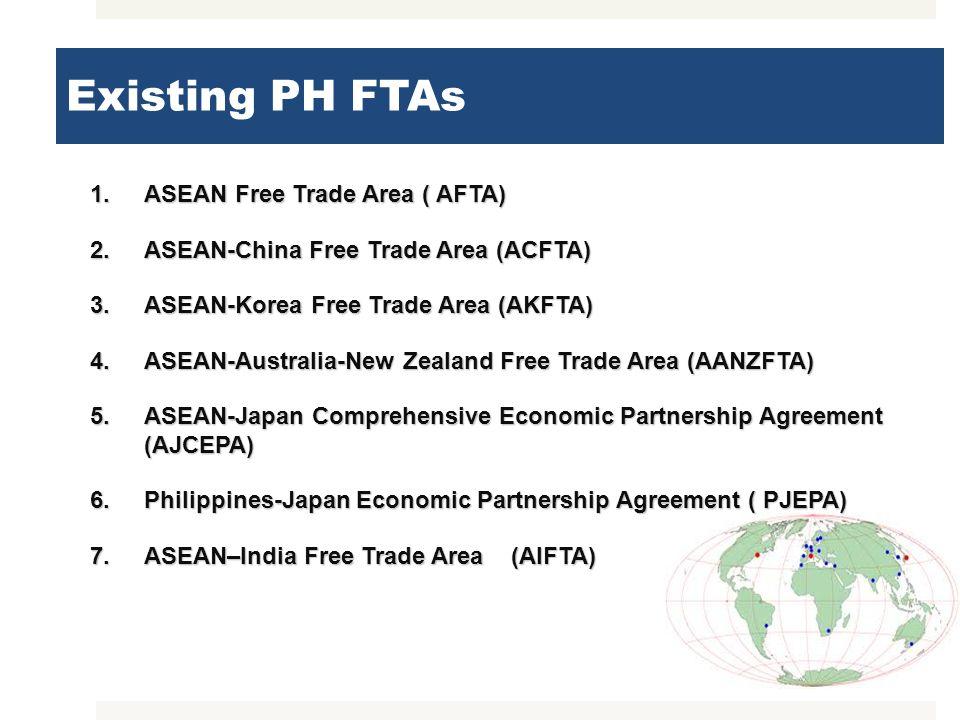 Existing PH FTAs ASEAN Free Trade Area ( AFTA)