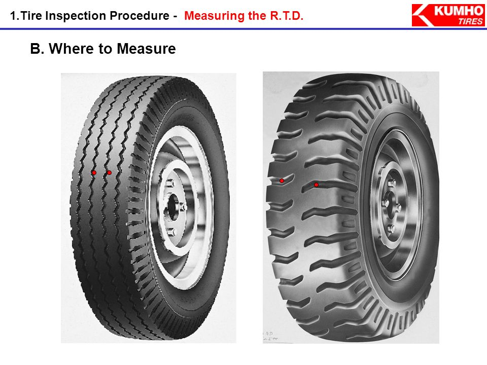 1.Tire Inspection Procedure - Measuring the R.T.D.