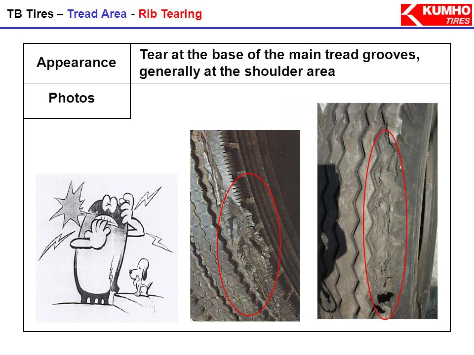 TB Tires – Tread Area - Rib Tearing