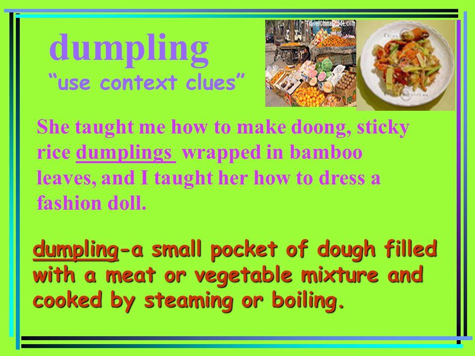 dumpling use context clues