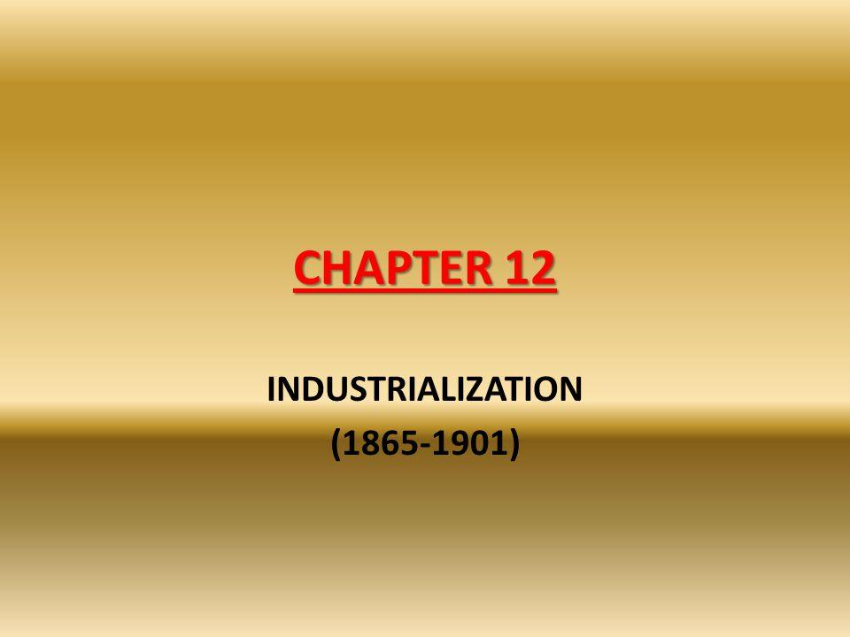 INDUSTRIALIZATION (1865-1901)