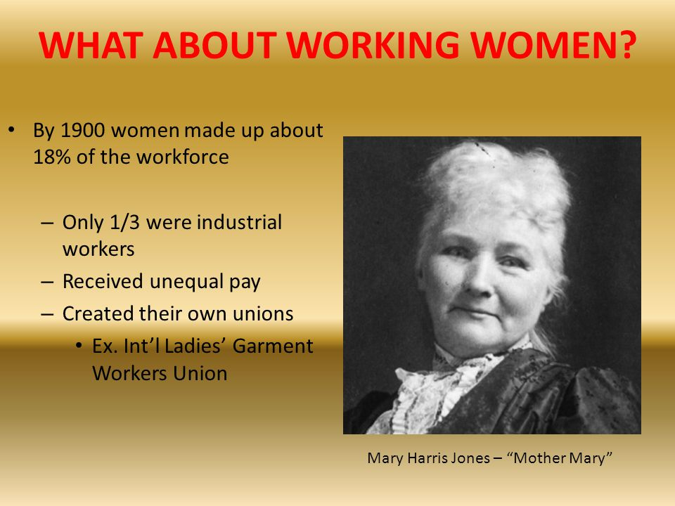WHAT ABOUT WORKING WOMEN