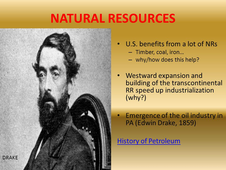 NATURAL RESOURCES U.S. benefits from a lot of NRs