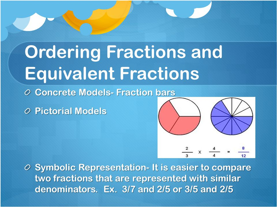 Ordering Fractions and Equivalent Fractions