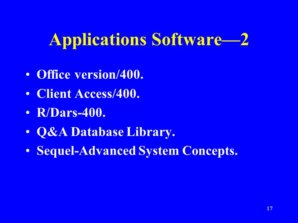 Applications Software—2