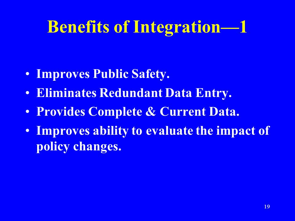 Benefits of Integration—1