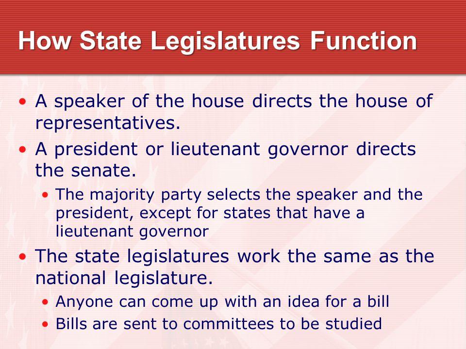 How State Legislatures Function
