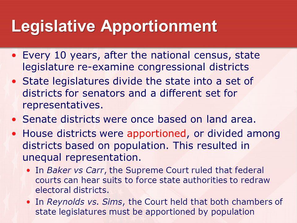 Legislative Apportionment