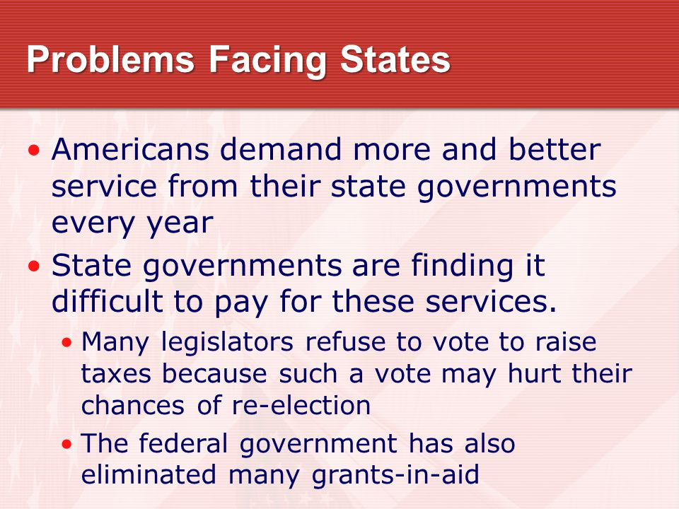 Problems Facing States