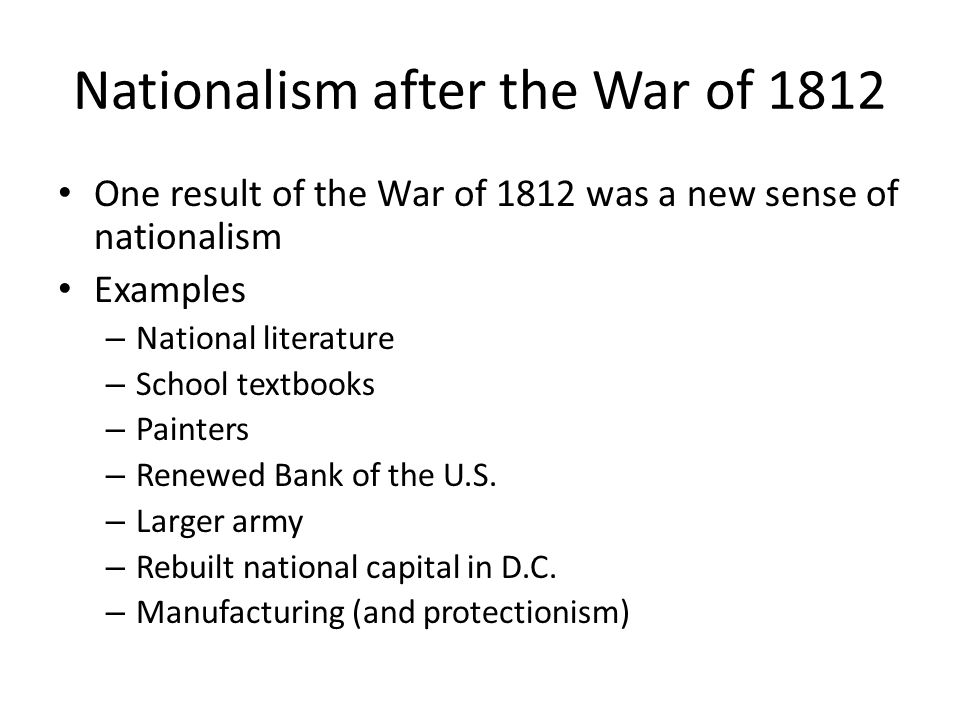 Nationalism after the War of 1812