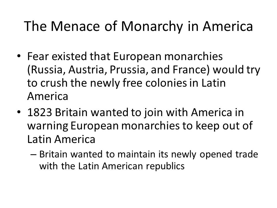 The Menace of Monarchy in America