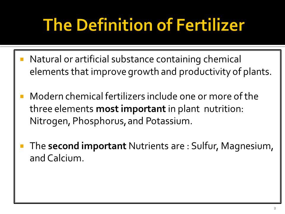 The Definition of Fertilizer