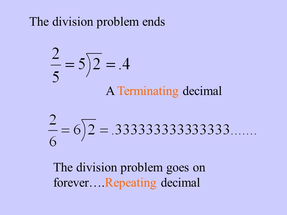 The division problem ends