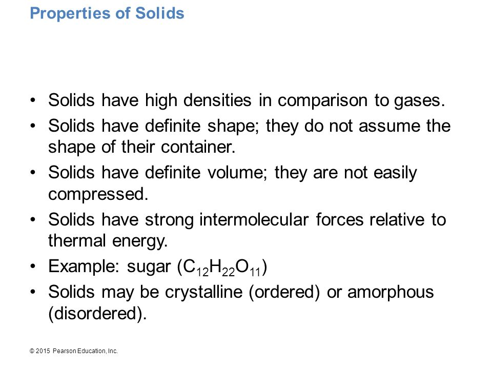 Properties of Solids