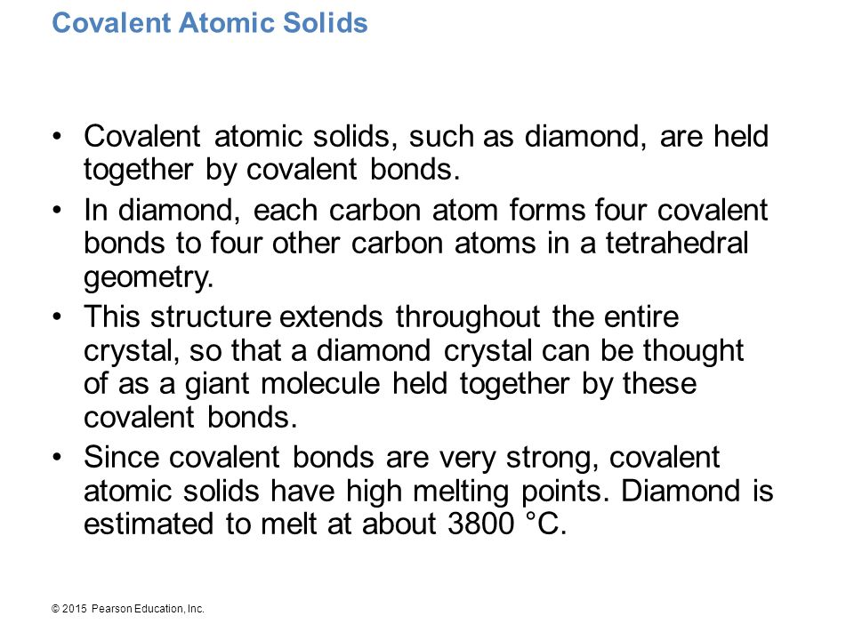 Covalent Atomic Solids